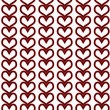 Red Hearts Textured Fabric Background — Stock Photo #34307135