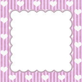 Pink Stripes and White Hearts background for your message or inv — Stock Photo