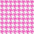 White and Pink Hounds Tooth Fabric Background — Stock Photo