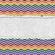 Rainbow Color Chevron Torn Background for your message or invita — Stock Photo #34605389