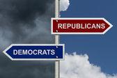 Republicans versus Democrats — Stock Photo