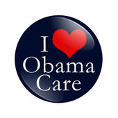 I Love ObamaCare Button — Stock Photo