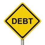 Warning of Debt — Stock Photo