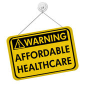 Warning of Affordable Healthcare — Stock Photo