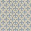 Blue and Beige Fleur De Lis Textured Fabric Background — Lizenzfreies Foto