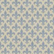 Blue and Beige Fleur De Lis Textured Fabric Background — ストック写真