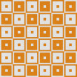 Orange Tapestry Square Textured Fabric Background — Stock Photo