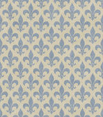 Blue and Beige Fleur De Lis Textured Fabric Background — Stok fotoğraf
