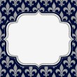 Blue and Gray Fleur De Lis Textured Fabric Background — Stock Photo #34767421