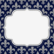 Stock Photo: Blue and Gray Fleur De Lis Textured Fabric Background