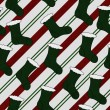 Green Christmas Stocking Textured Fabric Background — Stock Photo #34838001