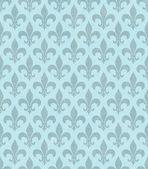 Teal Fleur De Lis Textured Fabric Background — Stock Photo