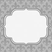 Gray Fleur De Lis Textured Fabric Background — Stock Photo