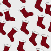 Red Christmas Stocking Textured Fabric Background — Stock Photo