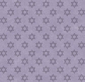 Purple Star of David Patterned Textured Fabric Background — Stock Photo