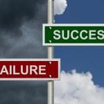 Success versus Failure — Stock Photo #34898183