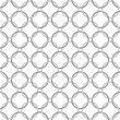 Stock Photo: Gray and White Interlaced Circles Textured Fabric Background