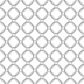 Gray and White Interlaced Circles Textured Fabric Background — Stock Photo