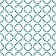 Stock Photo: Teal, Gray and White Interlaced Circles Textured Fabric Backgrou