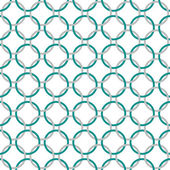 Teal, Gray and White Interlaced Circles Textured Fabric Backgrou — Stock Photo