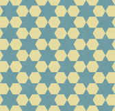 Teal and Yellow Hexagon Patterned Textured Fabric Background — Stock Photo