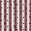 Patriotic Stars and Striped Textured Fabric Background — Stock Photo #35074279