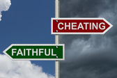Cheating versus Faithful — Stock Photo