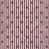 Patriotic Stars and Striped Textured Fabric Background — Stock Photo