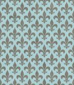 Teal and Gray Fleur De Lis Textured Fabric Background — Stockfoto