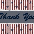 Patriotic Thank You — Stock Photo
