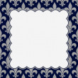 Blue and Gray Fleur De Lis Textured Fabric Background — Stock Photo