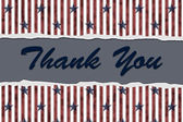 Patriotic Thank You — Stock Photo