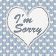 I'm Sorry Message — Stockfoto