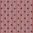 Patriotic Stars and Striped Textured Fabric Background — Photo