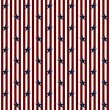 Patriotic Stars and Striped Textured Fabric Background — Stock fotografie