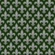 Green and Gray Fleur De Lis Textured Fabric Background — Stock Photo #35201055