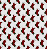 Red and Green Christmas Stocking Textured Fabric Background — Stock Photo