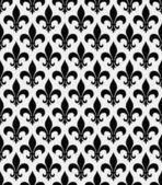 Black and White Fleur De Lis Textured Fabric Background — Stockfoto