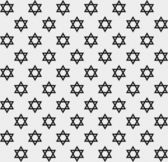 Black and White Star of David Patterned Textured Fabric Backgrou — Stock Photo