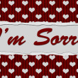 I'm Sorry Message — Stock Photo #35354609