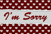 I'm Sorry Message — Stock Photo
