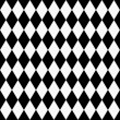 Black and White Diamond Shape Fabric Background — Stock Photo