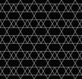 Black and White Line and Zigzag Patterned Textured Fabric Backgr — Stock Photo