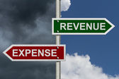 Revenue versus Expense — Stock Photo