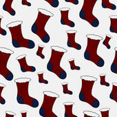 Red and Blue Christmas Stocking Textured Fabric Background — Stock Photo