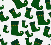 Green and Gold Christmas Stocking Textured Fabric Background — Stock Photo