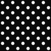 White Polka Dots on Black Textured Fabric Background — Stock Photo