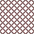 Stock Photo: Black, Red and White Interlaced Circles Textured Fabric Backgrou