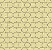 Yellow and Gray Hexagon Patterned Textured Fabric Background — Foto Stock