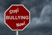 Stop Bullying Now Sign — Stock Photo